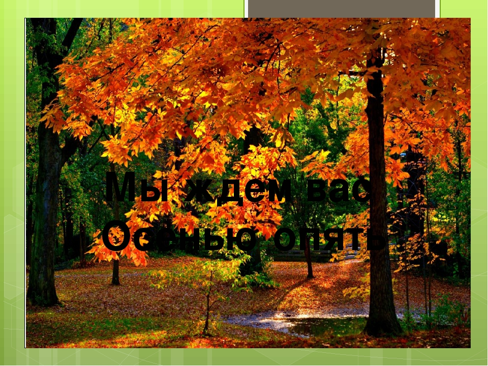 Мы ждем вас Осенью опять