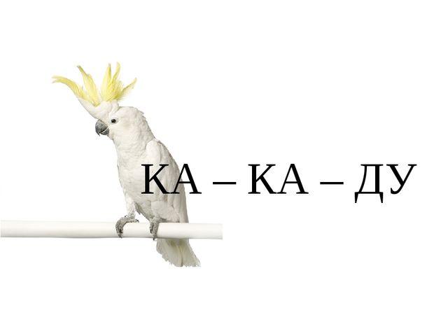 КА – КА – ДУ