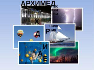 А Р Х И М Е Д ЭЛЕКТРИЧЕСКИЕ явления АРХИМЕД