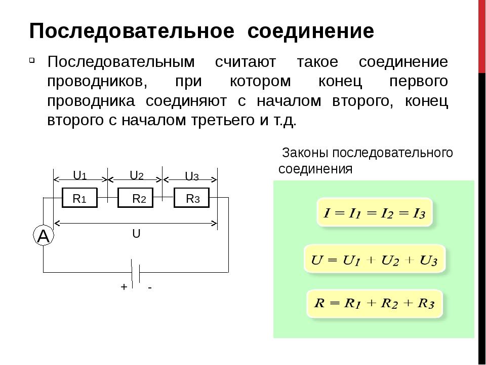картинки последовательное и параллельное соединение проводников так