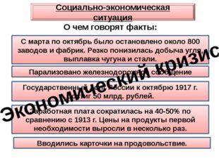 Социально-экономическая ситуация С марта по октябрь было остановлено около 80