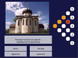 купол фронтон апсида капитель Полугруглый выступ здания, перекрытый полукупол