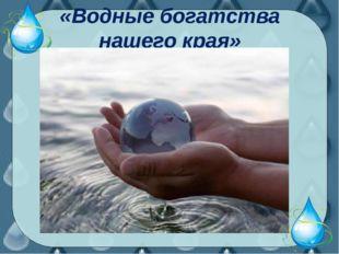 «Водные богатства нашего края»