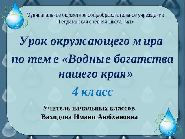Урок окружающего мира по теме «Водные богатства нашего края» 4 класс Муниципа...