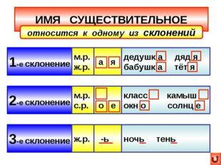 ИМЯ СУЩЕСТВИТЕЛЬНОЕ 1-е склонение 2-е склонение 3-е склонение относится к одн
