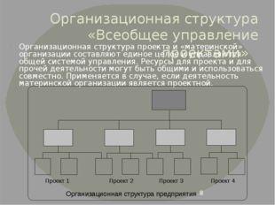Организационная структура «Всеобщее управление проектами» Организационная стр