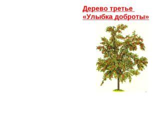 Дерево третье «Улыбка доброты»