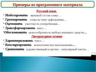 Русский язык Моделировать звуковой состав слова… Группировать слова по типу о