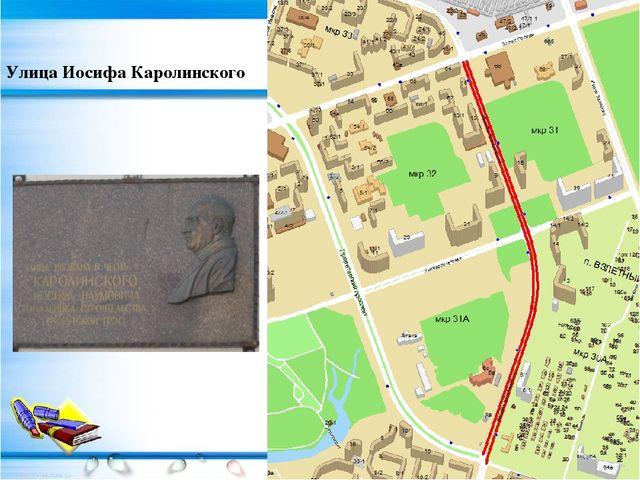Улица Иосифа Каролинского