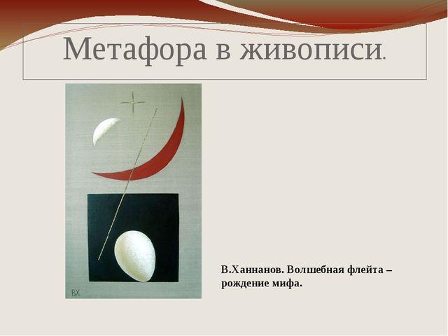 Метафора в живописи. В.Ханнанов. Волшебная флейта – рождение мифа.