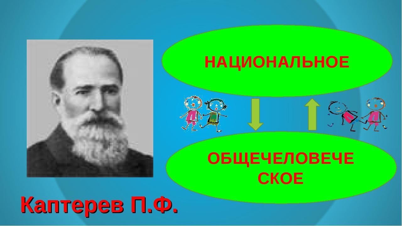 Каптерев П.Ф. НАЦИОНАЛЬНОЕ ОБЩЕЧЕЛОВЕЧЕСКОЕ