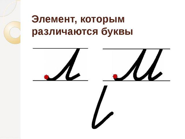Элемент, которым различаются буквы