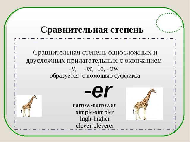 English Grammar Сравнительная степень односложных и двусложных прилагательны...