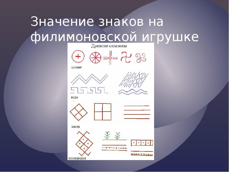 Значение знаков на филимоновской игрушке