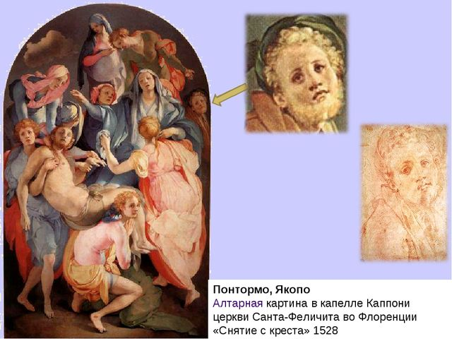 Понтормо, Якопо Алтарная картина в капелле Каппони церкви Санта-Феличита во Ф...