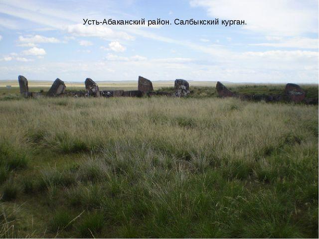 Усть-Абаканский район. Салбыкский курган.