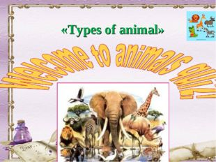 «Types of animal»
