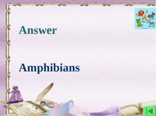 Answer Amphibians