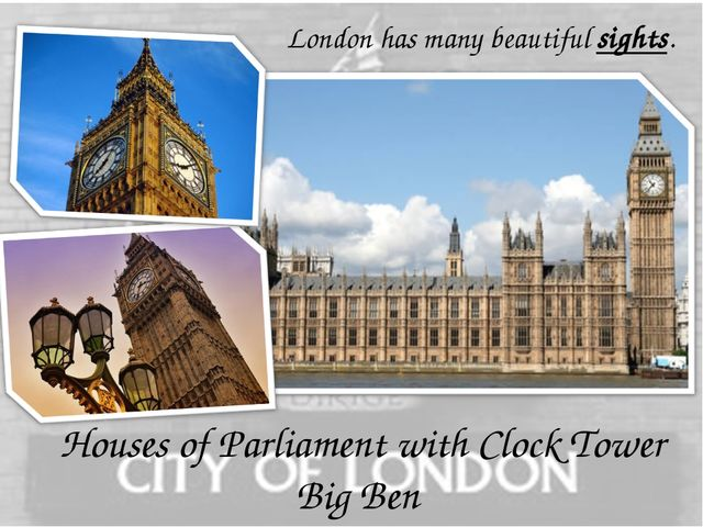 Houses of Parliament with Clock Tower Big Ben London has many beautiful sigh...