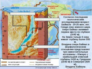 Согласно последним геологическим исследованиям возраст Байкала - 20-25 млн. л