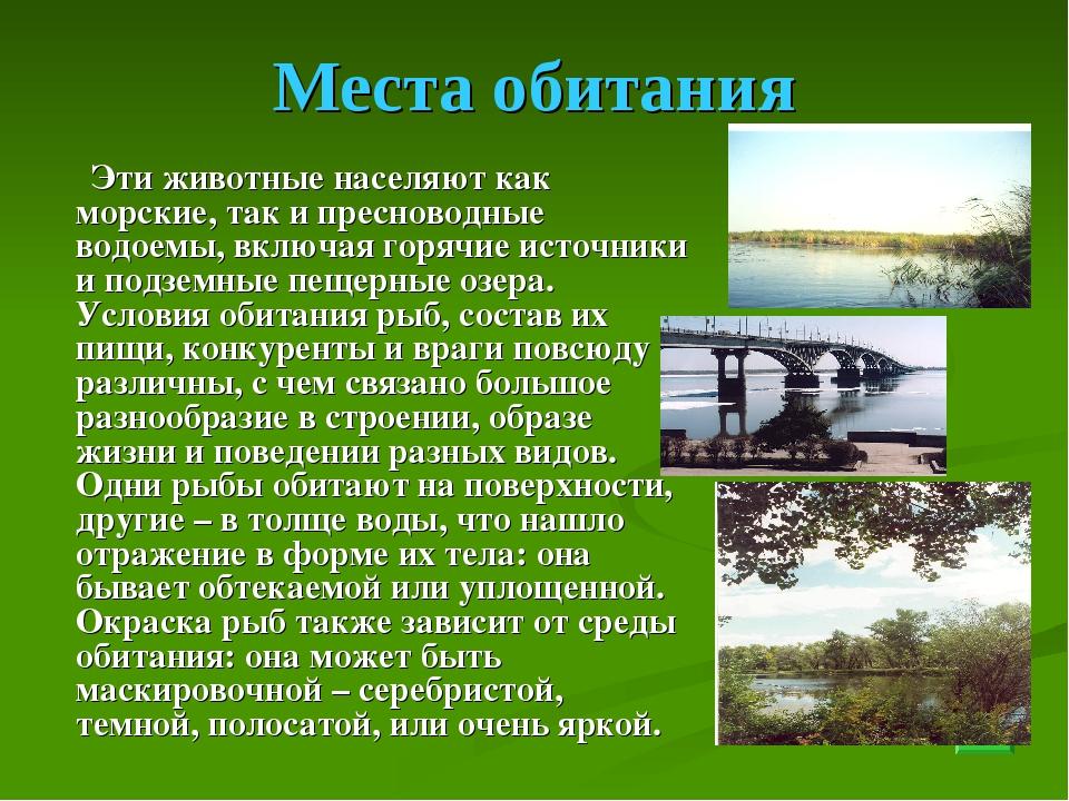 Места обитания Эти животные населяют как морские, так и пресноводные водоемы,...