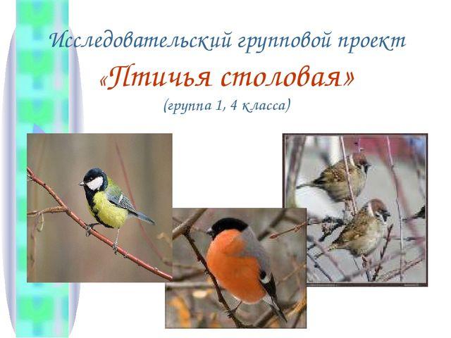 Исследовательский групповой проект «Птичья столовая» (группа 1, 4 класса)