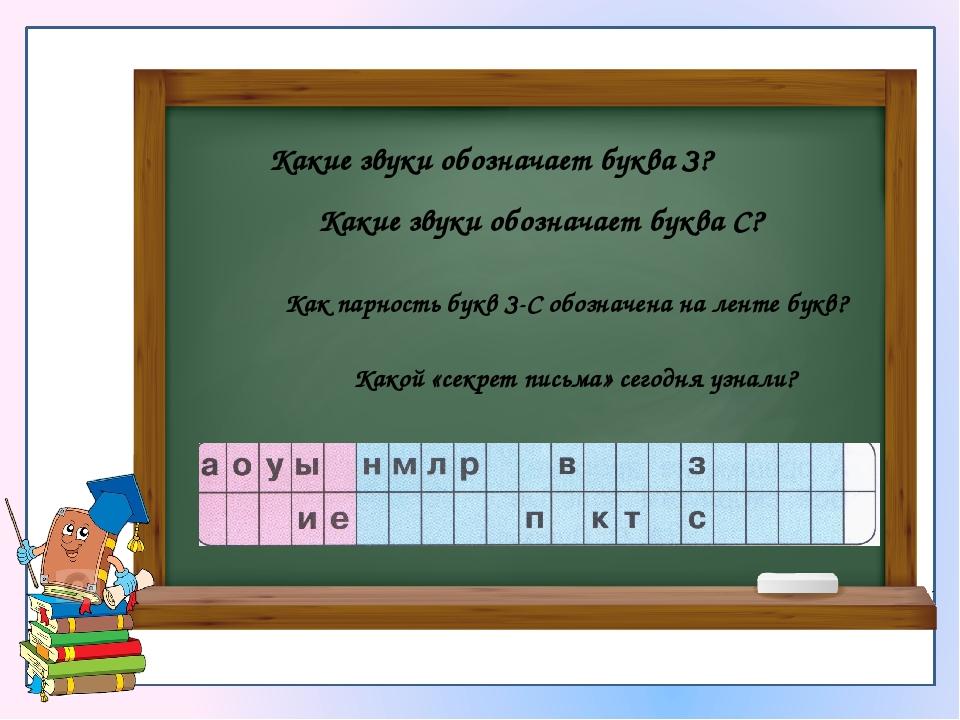 Какие звуки обозначает буква З? Какие звуки обозначает буква С? Как парность...