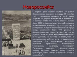 """Новороссийск С первых дней """"нового порядка"""" на улицах Новороссийска появились"""