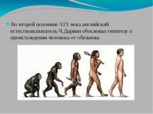 Во второй половине XIX века английский естествоиспытатель Ч.Дарвин обосновал