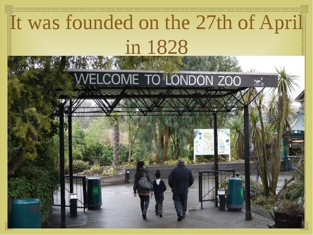 It was founded on the 27th of April in 1828 
