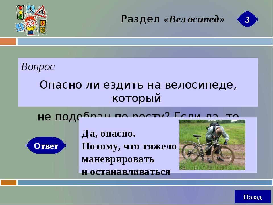Вопрос Почему велосипедисту надо быть предельно осторожным при осеннем листоп...