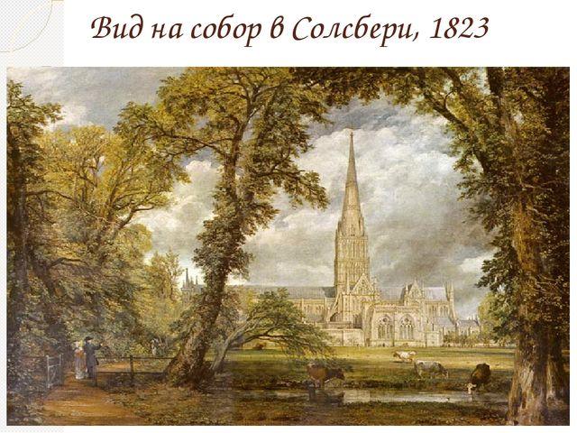 Вид на собор в Солсбери, 1823