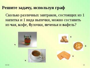 Сколько различных завтраков, состоящих из 1 напитка и 1 вида выпечки, можно