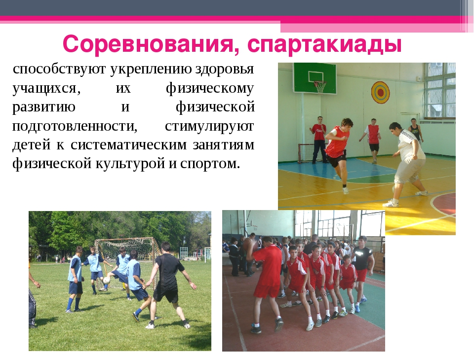 Соревнования, спартакиады способствуют укреплению здоровья учащихся, их физич...