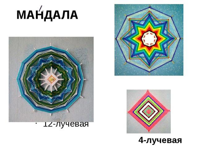 МАНДАЛА 12-лучевая 8-лучевая 4-лучевая