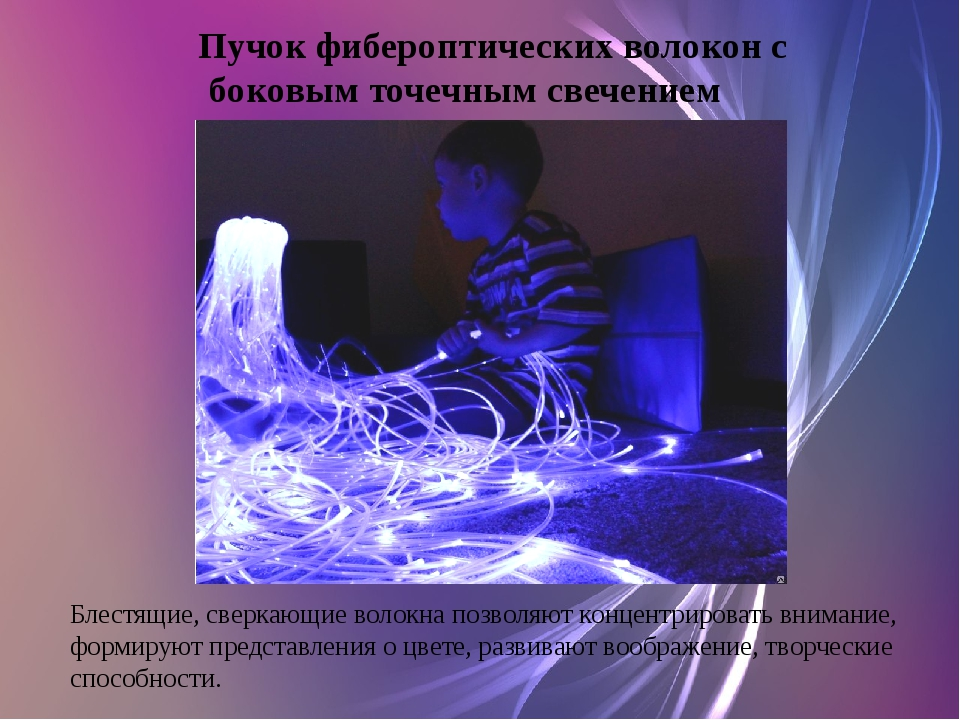 Пучок фибероптических волокон с боковым точечным свечением Блестящие, сверкаю...