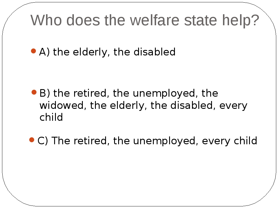 How many Americans live below the poverty level in a welfare? A) 14% B) 30% C...