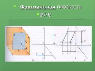 Фронтальная плоскость Р//V