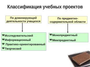 По предметно-содержательной области Исследовательский Информационный Практико
