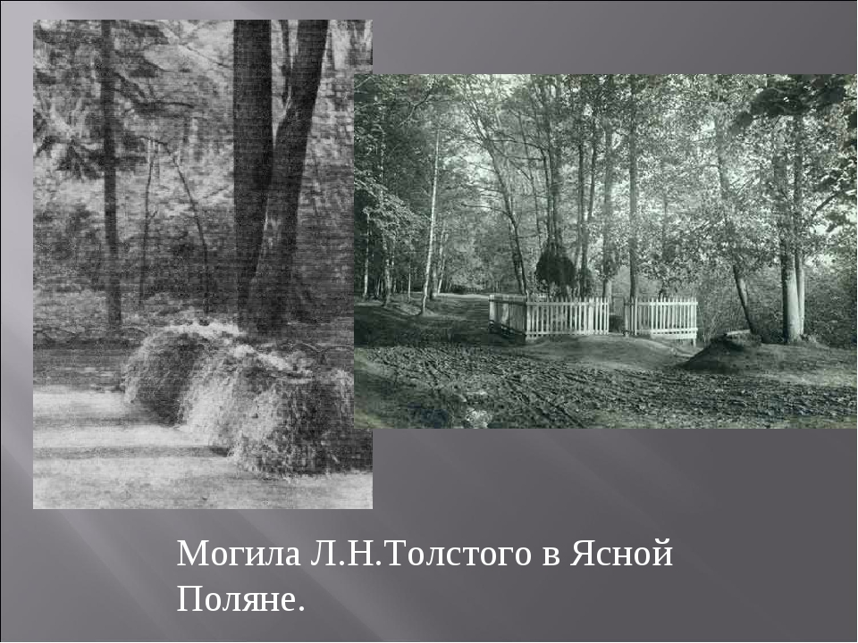 Могила Л.Н.Толстого в Ясной Поляне.