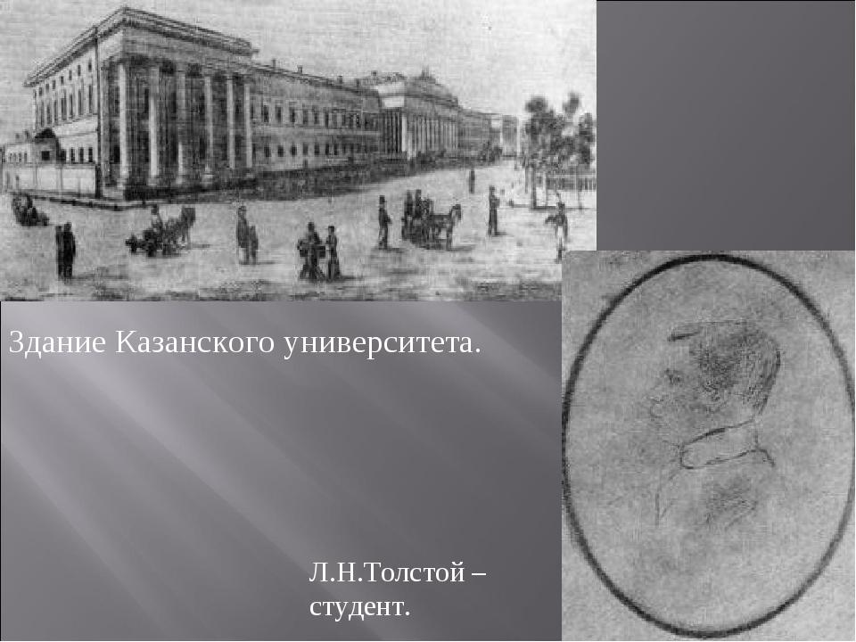 Здание Казанского университета. Л.Н.Толстой – студент.