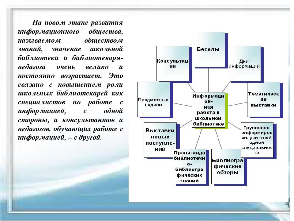 На новом этапе развития информационного общества, называемом обществом знани...