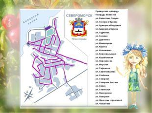 Площадь Мужества Приморская площадь ул. Валентина Пикуля ул. Генерала Фулика