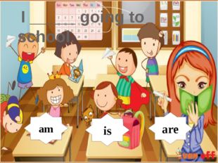 I _____ going to school. am is are am