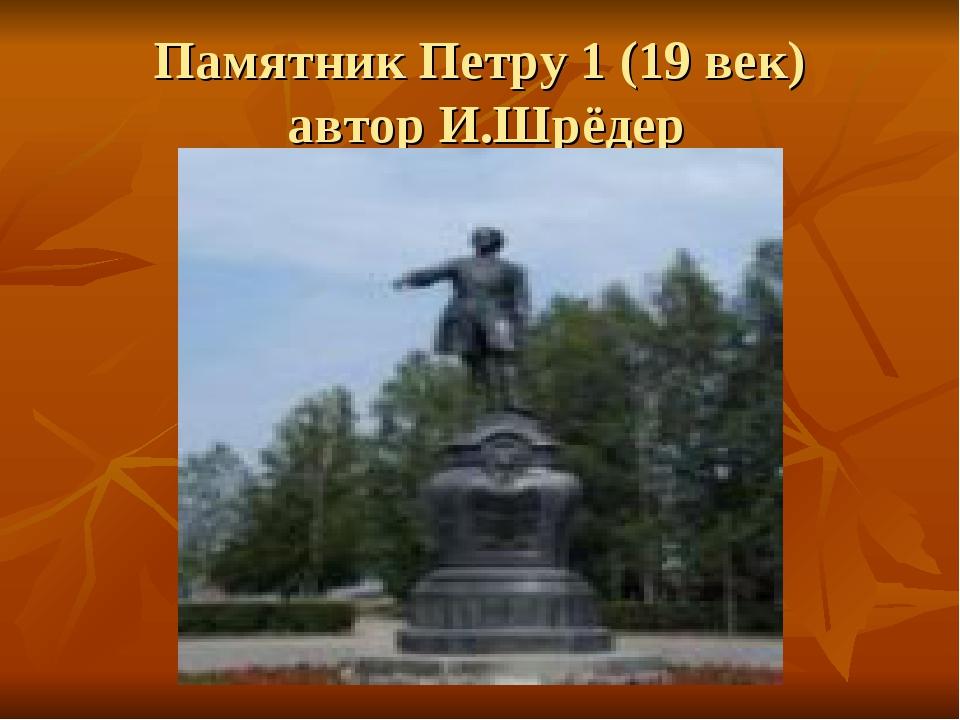 Памятник Петру 1 (19 век) автор И.Шрёдер