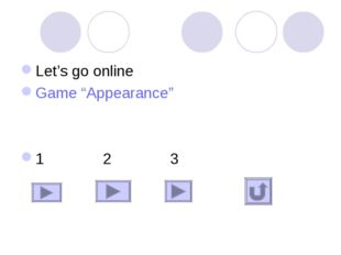 "Let's go online Game ""Appearance"" 1 2 3"