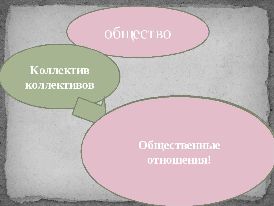 общество Коллектив коллективов Многообразные связи, возникающие между соц. гр...