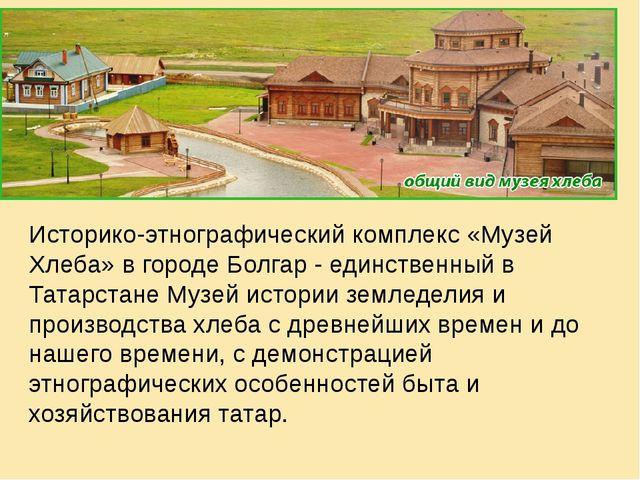 Историко-этнографический комплекс «Музей Хлеба» в городе Болгар - единственн...