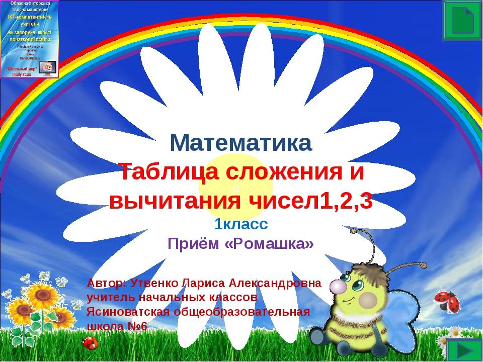 Автор: Утвенко Лариса Александровна учитель начальных классов Ясиноватская о...