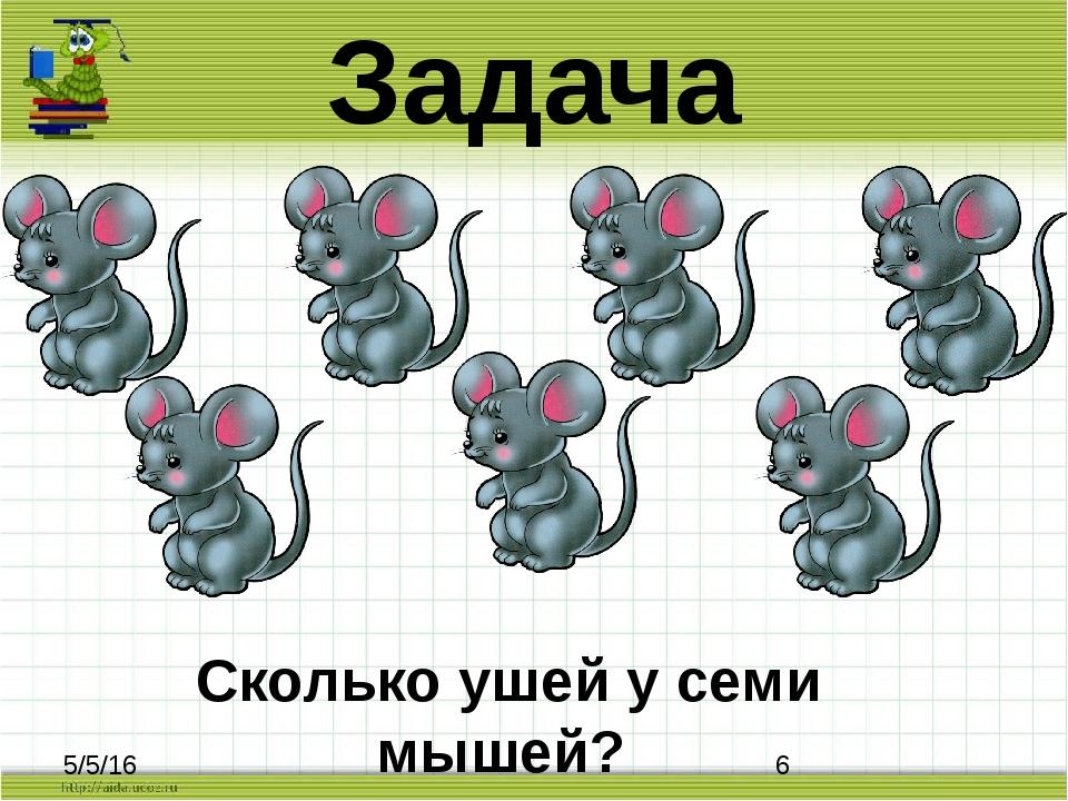Задача Сколько ушей у семи мышей?